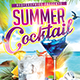 Summer Cocktail - Flyer Template - GraphicRiver Item for Sale