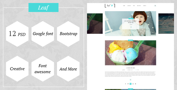 Leaf - Creative Blog / PSD Template - PSD Templates