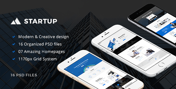 StartUp - Multipurpose Startup PSD Template - Business Corporate