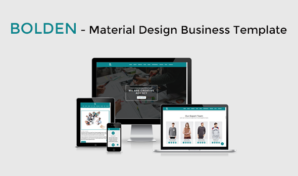 Bolden – Material Design Business Template