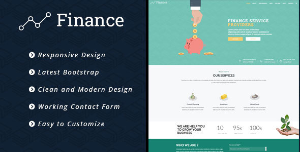 Finance – Consulting Business, Finance HTML5 Template