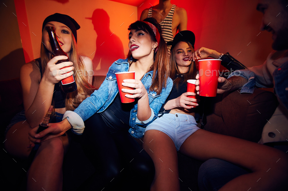 Crowded Corner in Club - Stock Photo - Images
