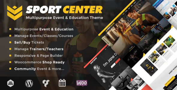 Sport Center - Multipurpose Events & Education WordPress Theme