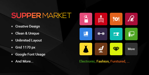 Supermarket - PSD Templates - Shopping Retail