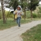 Boy Is Running On Pathway - VideoHive Item for Sale