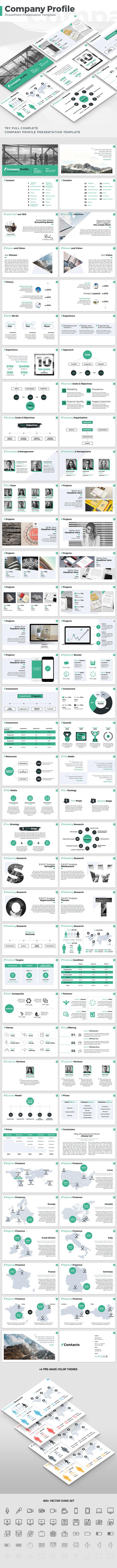 Company Profile - PowerPoint Presentation Template - PowerPoint Templates Presentation Templates
