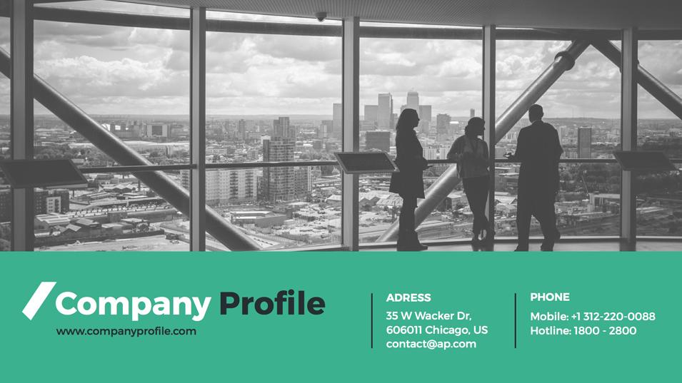 Company profile powerpoint presentation template by gardeniadesign.