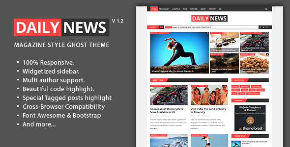 Quill - Minimal Blog And Magazine Ghost Theme