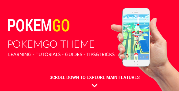Pokemgo – WordPress Theme for Pokemon Go tutorials, learning, guides, tips and tricks