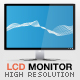 High resolution LCD Monitor / Display vector - GraphicRiver Item for Sale
