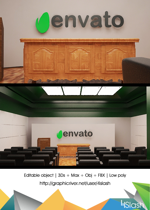 3d Conference Room - 3DOcean Item for Sale