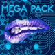 Hi Tech Cybernetic Menu Buttons Mega Pack