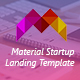 Moharram - Material Design Startup Landing Template - ThemeForest Item for Sale