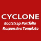 Cyclone-Bootstrap Portfolio Responsive Template - ThemeForest Item for Sale