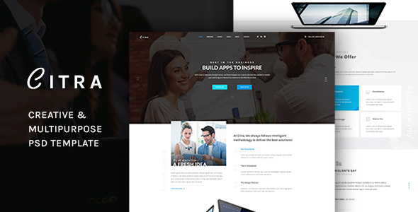 CITRA -  Business PSD Template - Corporate PSD Templates