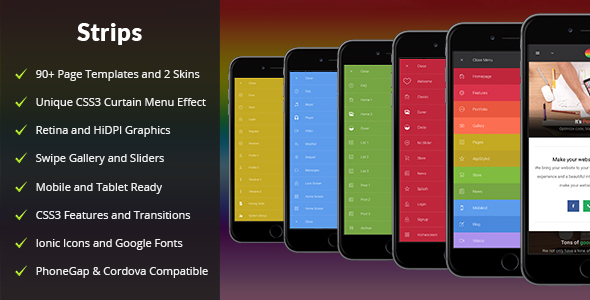 Strips Mobile | Mobile Template - Mobile Site Templates