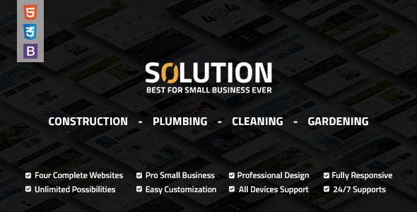 Solution Multipurpose Small Business Html Template - Business Corporate
