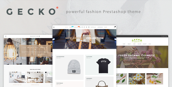 Gecko – Powerful Fashion, Organic Prestashop Theme