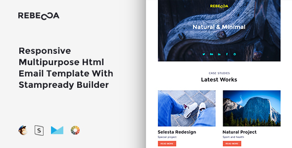 Rebecca- Responsive Multipurpose Email Template + Stampready Builder