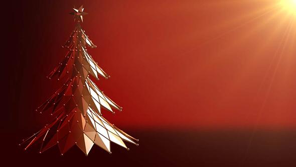 polygonal christmas tree rotating by anadmist videohive