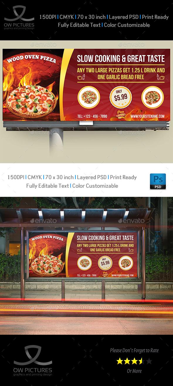 Pizza Restaurant Billboard Template Vol.2