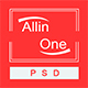 All In One - Multi Purpose One Page / Landing Page Website PSD Template Nulled