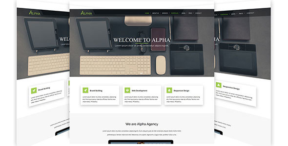 Alpha - One Page Agency HTML5 Template - Portfolio Creative