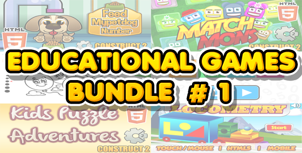 Educational Games Bundle #1 - 6 HTML5 Games (CAPX included) - CodeCanyon Item for Sale