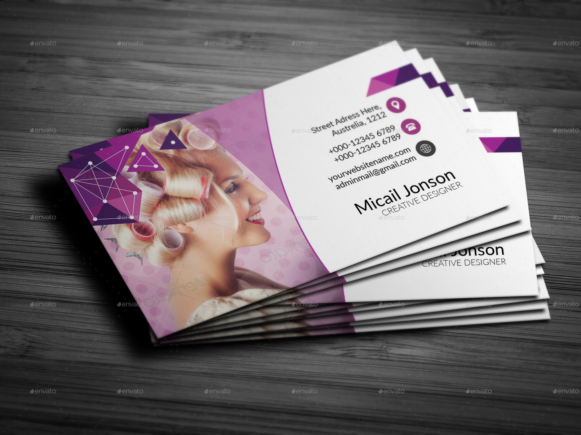 Beauty & Spa Business Card by Jaguars_Paw | GraphicRiver