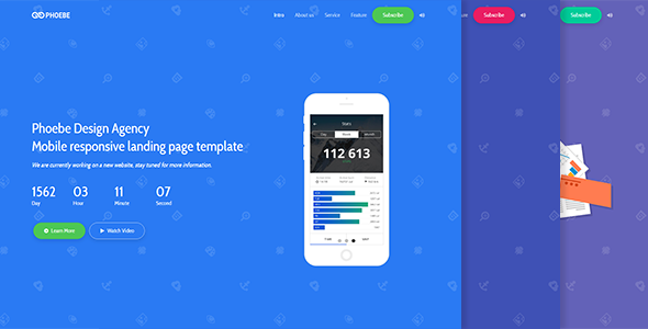 Phoebe – Responsive Coming Soon Page