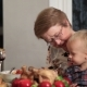 Loving Grandmother Feeding Her Grandson - VideoHive Item for Sale