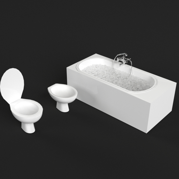 Bathroom Set - 3DOcean Item for Sale
