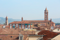 Alba rooftops with cathedral's bell tower view, Italy - PhotoDune Item for Sale