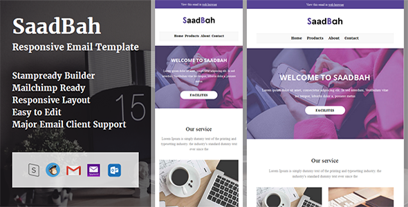 SaadBah – Responsive Email Template + Stampready Builder