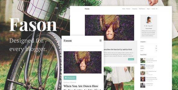 Fason – Fashion Magazine and Lifestyle WordPress Theme