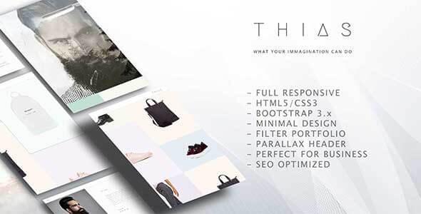 Thias – Minimal Modern Portfolio