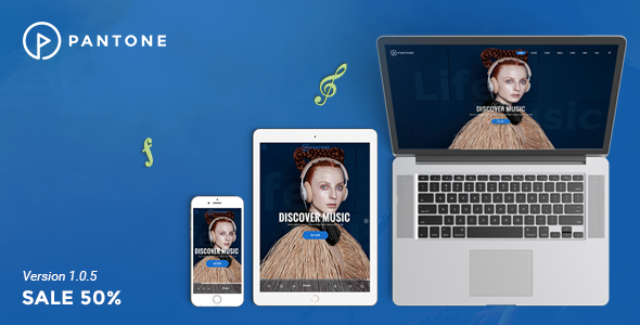 Pantone - Music / Artist / Singers / Bands WordPress Theme