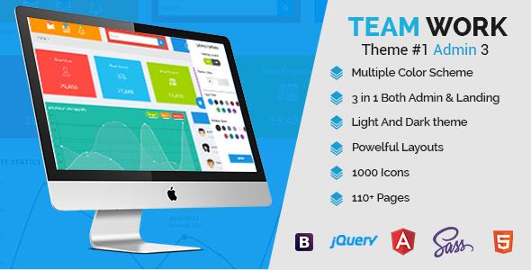 Teamwork – Responsive Bootstrap Admin Template