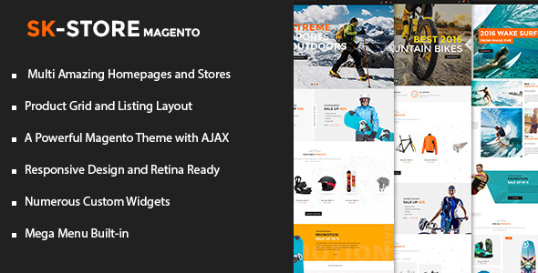 SK Store – Unique Magento Theme for Sport Stores - Shopping Magento