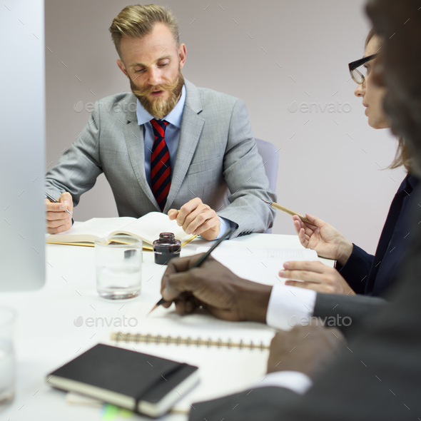 Business Colleagues Conference Teamwork Ideas Concept - Stock Photo - Images