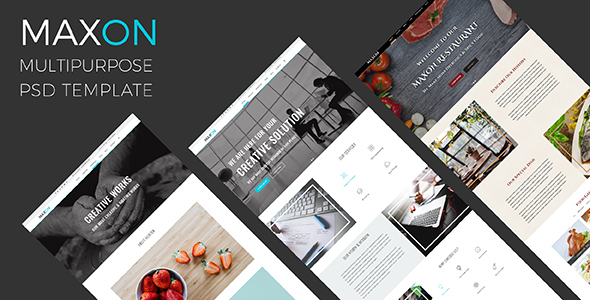 MAXON – Multipurpose Agecy – Restaurent One Page PSD Template