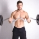 Strong Topless Man Doing Exercise With Dumbbells - VideoHive Item for Sale