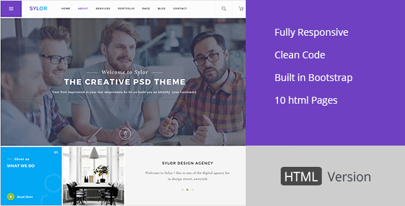 Sylor - Agency/Portfolio HTML Template - Business Corporate