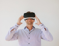 Man wearing a pair of VR glasses - PhotoDune Item for Sale