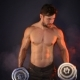 Strong Sportsman Lifting Heavy Dumbbells In Smoke - VideoHive Item for Sale
