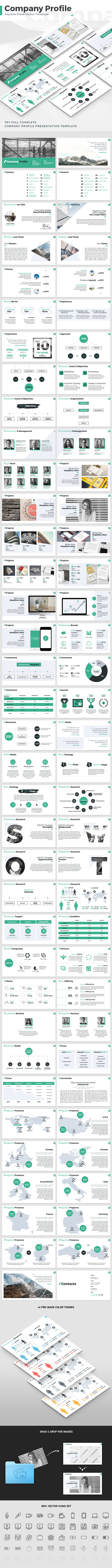 Company Profile - Keynote Presentation Template - Keynote Templates Presentation Templates