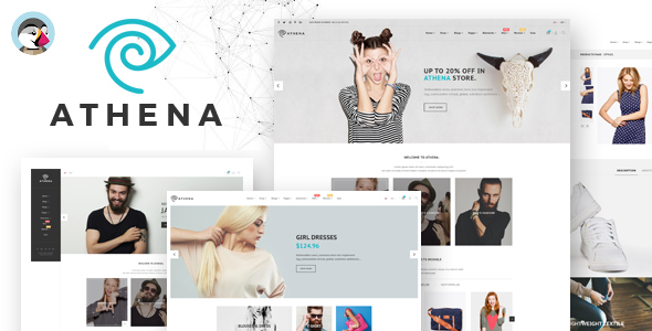 Athena – With 15 + Homepages  Responsive Prestashop Theme