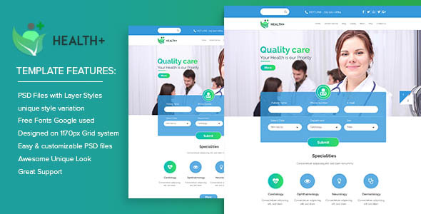 Health+ PSD Templates - Health & Beauty Retail