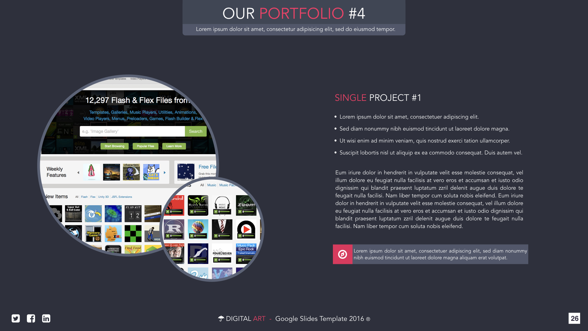 Digital Art - Google Slides Presentation Template by VigitalArt ...
