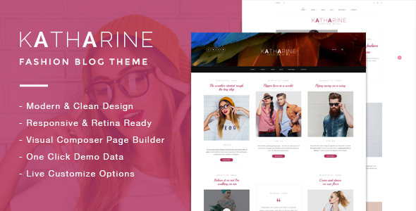 Katharine - Modern Fashion Blog Theme